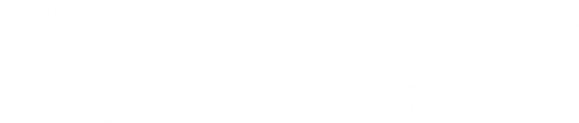 Brain Bytes Creative logo. Text is white on light grey. On the left side is an image of a brain.
